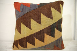 Kilim Pillows | 16x16 | Turkish pillows | 1086 | Ethnic Pillow , Kelim c... - $42.00