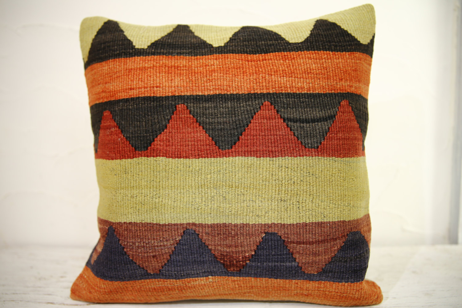 Kilim Pillows | 16x16 | Turkish pillows | 1078 | Ethnic Pillow , Kelim cushion