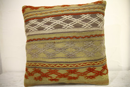 Kilim Pillows | 16x16 | Turkish pillows | 1077 | Ethnic Pillow , Kelim c... - $42.00