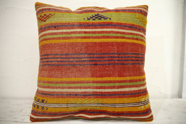 Kilim Pillows | 16x16 | Turkish pillows | 1075 | Ethnic Pillow , Kelim c... - $35.00