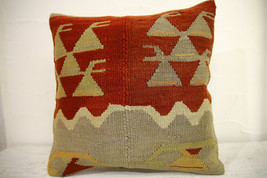 Kilim Pillows | 16x16 | Turkish pillows | 1076 | Ethnic Pillow , Kelim c... - $42.00