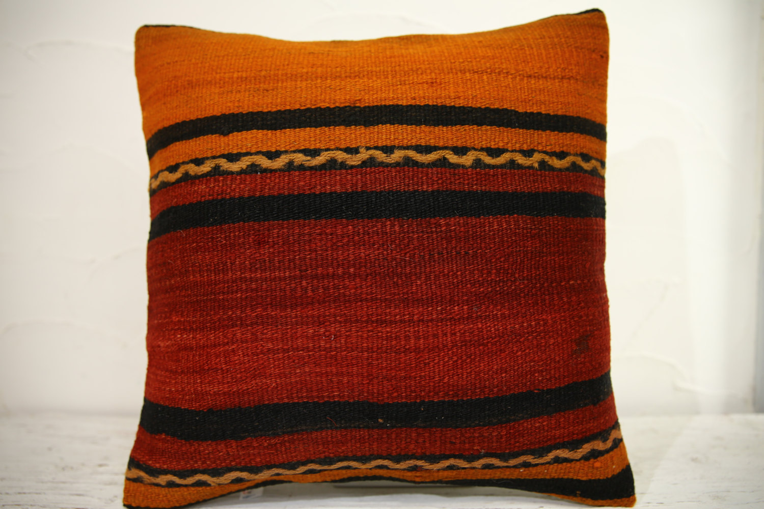 Kilim Pillows | 16x16 | Turkish pillows | 1068 | Ethnic Pillow , Kelim cushion