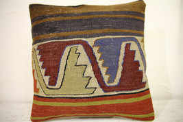 Kilim Pillows | 16x16 | Turkish pillows | 1069 | Ethnic Pillow , Kelim c... - $42.00