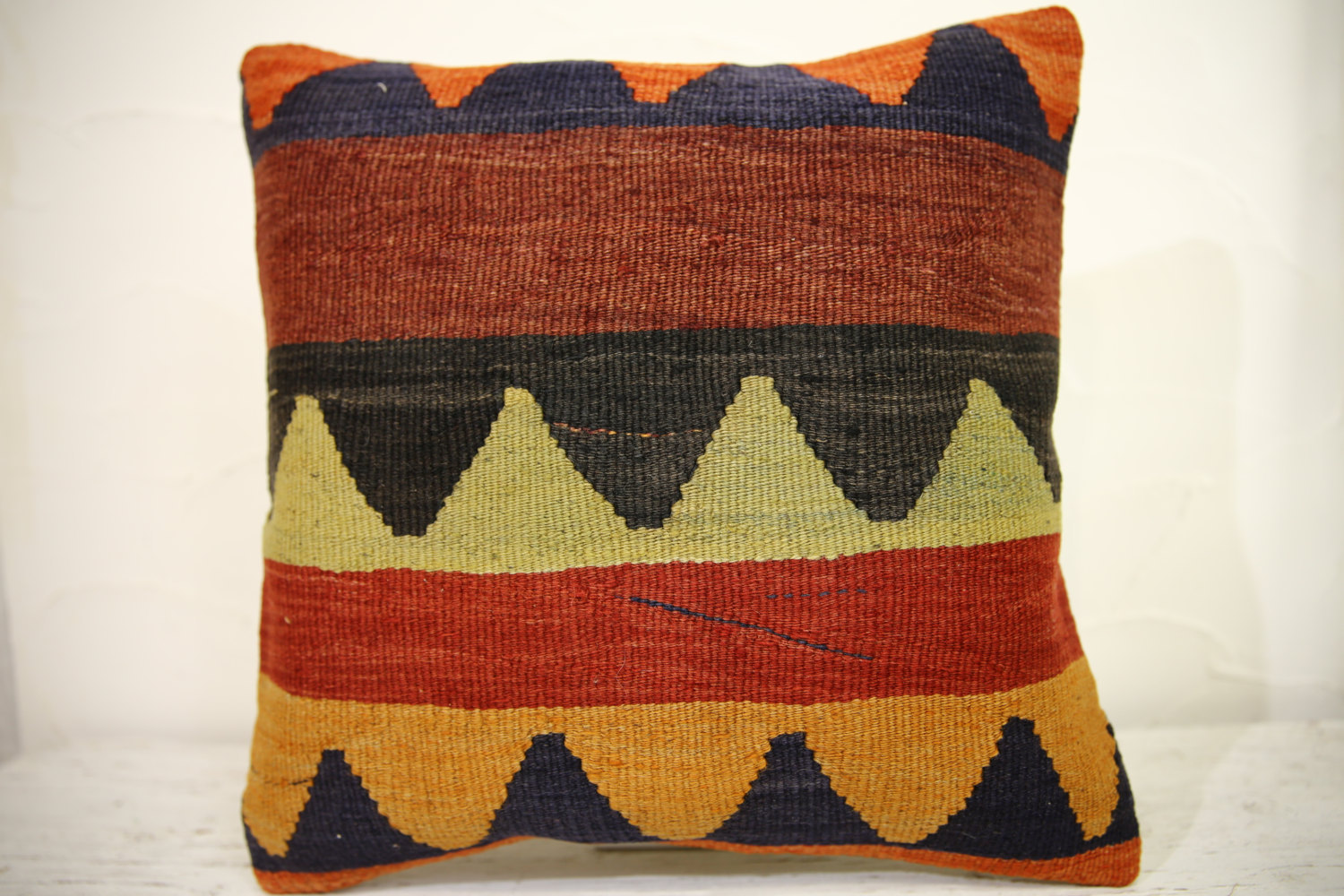 Kilim Pillows | 16x16 | Turkish pillows | 1072 | Ethnic Pillow , Kelim cushion