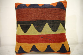 Kilim Pillows | 16x16 | Turkish pillows | 1072 | Ethnic Pillow , Kelim c... - $42.00