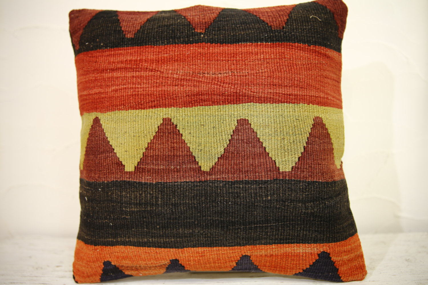 Kilim Pillows | 16x16 | Turkish pillows | 1070 | Ethnic Pillow , Kelim cushion