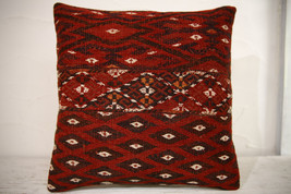 Kilim Pillows | 16x16 | Turkish pillows | 1064 | Ethnic Pillow , Kelim c... - $49.00