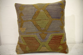 Kilim Pillows | 16x16 | Turkish pillows | 1065 | Ethnic Pillow , Kelim c... - $42.00