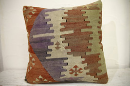 Kilim Pillows | 16x16 | Turkish pillows | 1063 | Ethnic Pillow , Kelim c... - $49.00