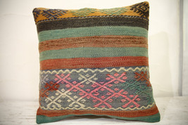Kilim Pillows | 16x16 | Turkish pillows | 1057 | Ethnic Pillow , Kelim c... - $42.00