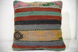 Kilim Pillows | 16x16 | Turkish pillows | 1042 | Ethnic Pillow , Kelim c... - $35.00