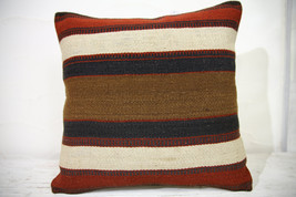 Kilim Pillows | 16x16 | Turkish pillows | 1034 | Ethnic Pillow , Kelim c... - $35.00