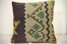Kilim Pillows | 16x16 | Turkish pillows | 1040 | Ethnic Pillow , Kelim c... - $42.00