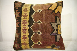 Kilim Pillows | 16x16 | Turkish pillow | 1032 | Kelim cushion case,Accen... - $56.00