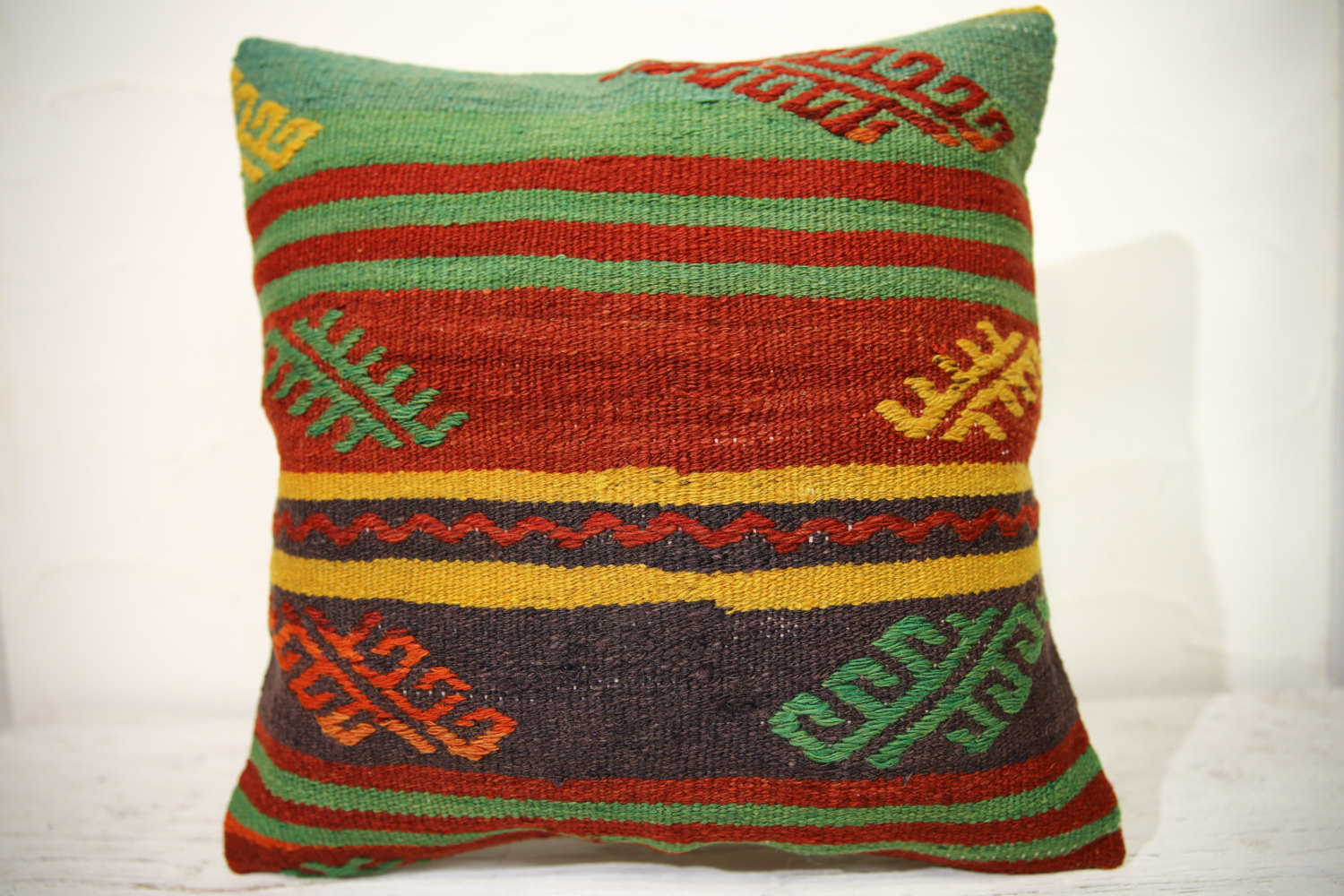 Kilim Pillows | 16x16 | Turkish pillows | 994 | Kelim cushion case,Accent Pillow