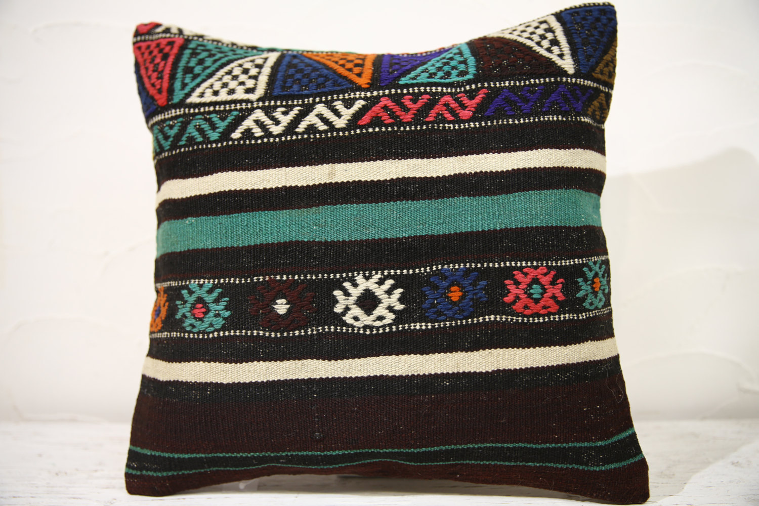 Kilim Pillows | 16x16 | Decorative Pillows | 781 | Accent Pillows turkish pillow