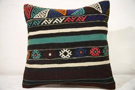 Kilim Pillows | 16x16 | Decorative Pillows | 781 | Accent Pillows turkis... - $49.00