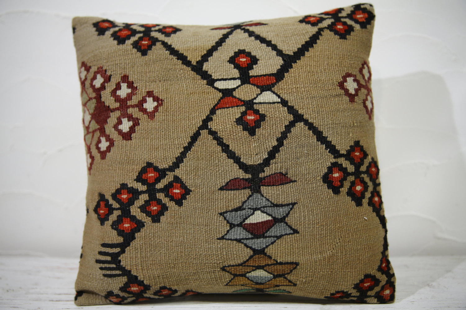 Kilim Pillows |16x16 | Decorative Pillows | 732 | Accent Pillows ,turkish pillow