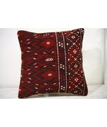 Kilim Pillows |16x16 | Decorative Pillows | 740 | Accent Pillows ,turkis... - $49.00