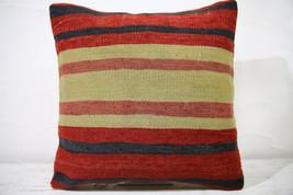 Kilim Pillows |16x16 | Decorative Pillows | 738 | Accent Pillows ,turkis... - $35.00