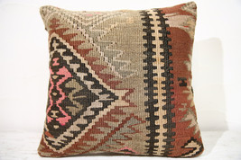 Kilim Pillows |16x16 | Decorative Pillows | 723 | Accent Pillows ,turkis... - $56.00