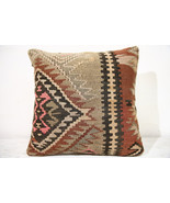 Kilim Pillows |16x16 | Decorative Pillows | 723 | Accent Pillows ,turkis... - $56.00