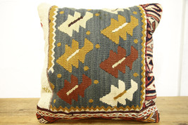 Kilim Pillows |16x16 | Decorative Pillows | 487 | Accent Pillows turkish... - $35.00
