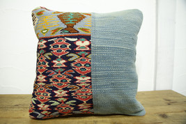 Kilim Pillows |16x16 | Decorative Pillows | 474 | Accent Pillows turkish... - $35.00