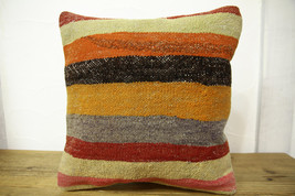 Kilim Pillows |16x16 | Decorative Pillows | 453 | Accent Pillows turkish... - $35.00