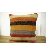 Kilim Pillows |16x16 | Decorative Pillows | 453 | Accent Pillows turkish... - $35.00