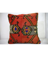 Kilim Pillows |18x18| Decorative Pillows | 1010 | Accent Pillows, Kilim ... - $56.00