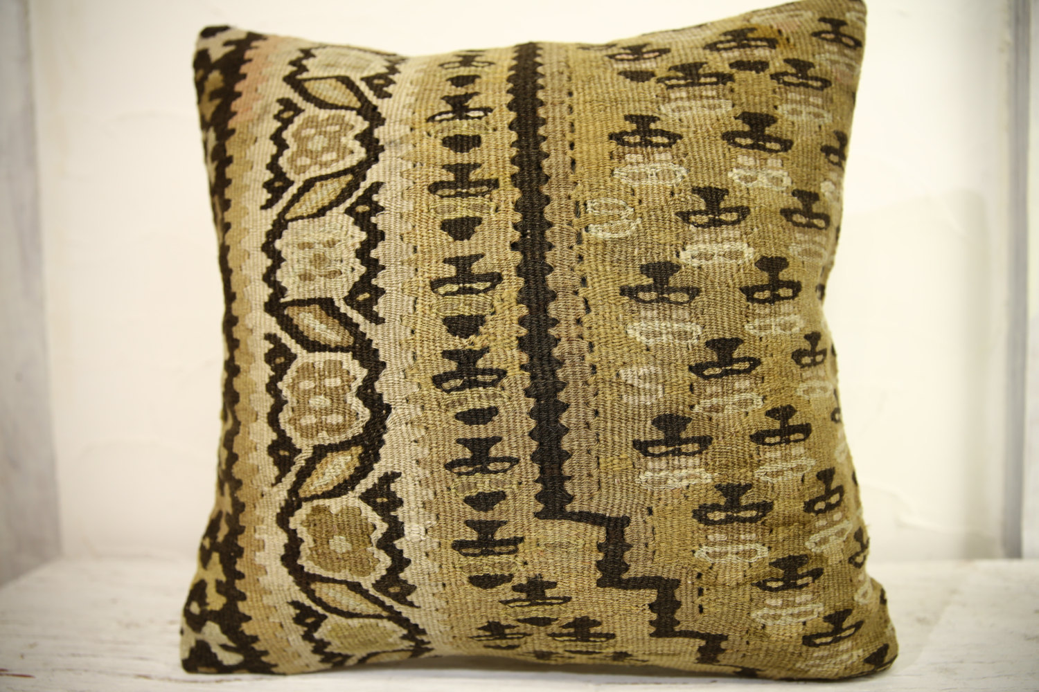 Kilim Pillows |18x18| Decorative Pillows | 1007 | Accent Pillows, Kilim cushion
