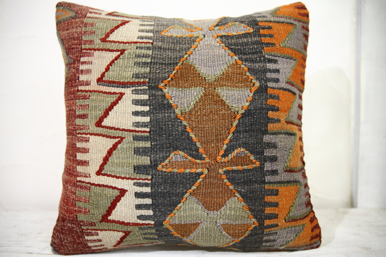 Kilim Pillows |18x18| Decorative Pillows | 1012 | Accent Pillows, Kilim cushion