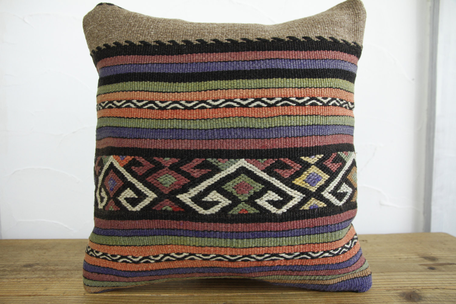 Kilim Pillows |16x16 | Decorative Pillows | 173 | Accent Pillows, Kilim cushion