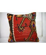 Kilim Pillows |18x18| Decorative Pillows | 1015 | Accent Pillows, Kilim ... - $56.00