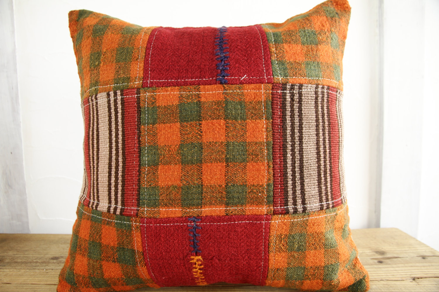 Kilim Pillows |18x18| Decorative Pillows | 380 | Accent Pillows, Kilim cushion