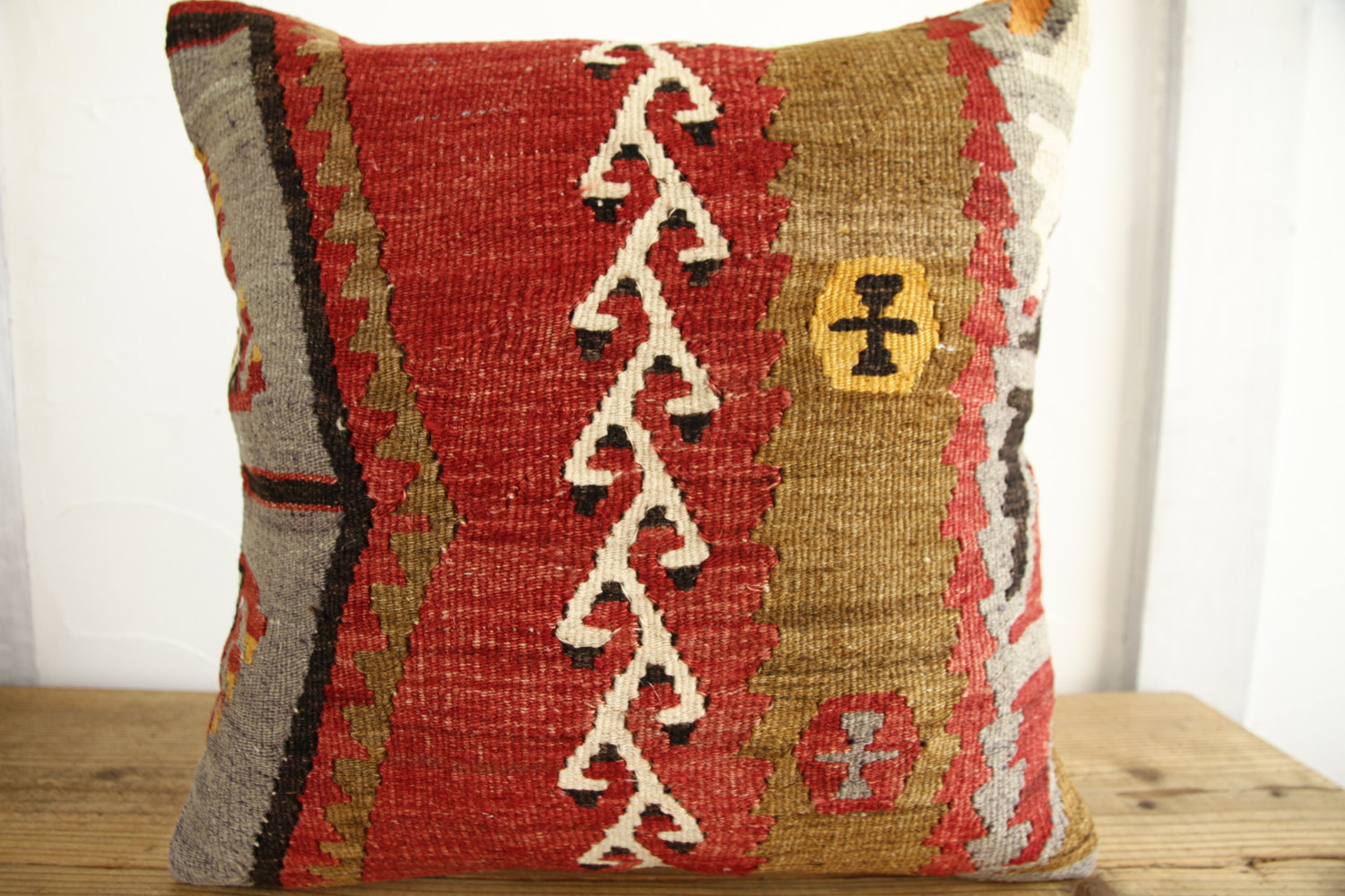Kilim Pillows |18x18| Decorative Pillows | 289 | Accent Pillows, Kilim cushion