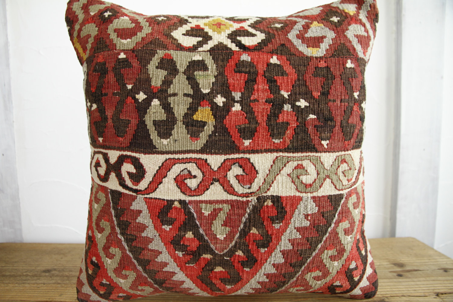 Kilim Pillows |18x18| Decorative Pillows | 281 | Accent Pillows, Kilim cushion