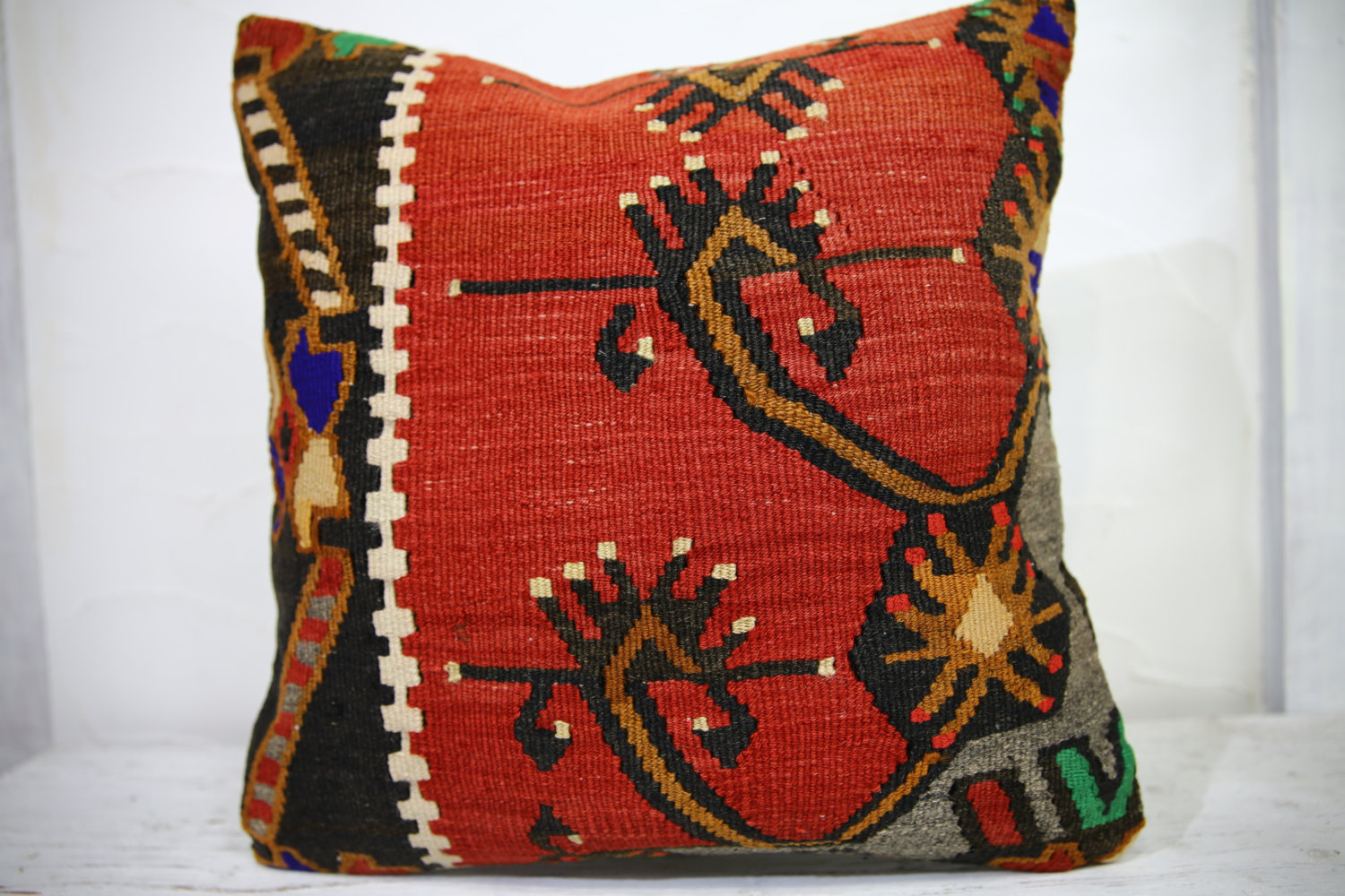 Kilim Pillows | 18x18 | Decorative Pillows | 1019 | Accent Pillows, kelim pillow