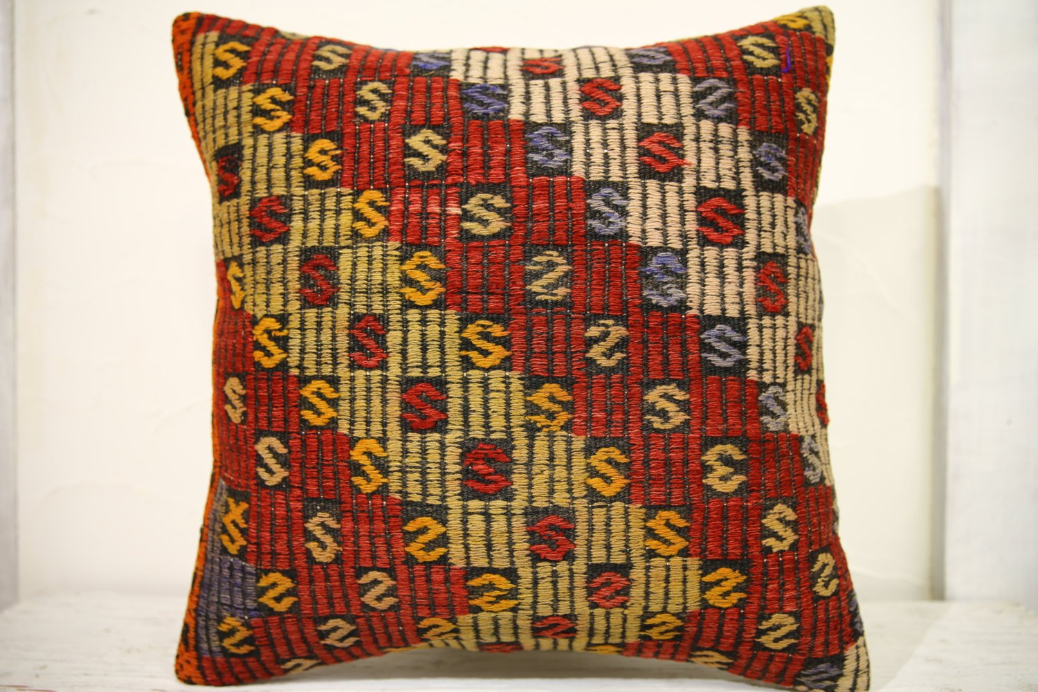 Kilim Pillows | 20x20 | Decorative Pillows | 686 | Accent Pillows, Kilim cushion