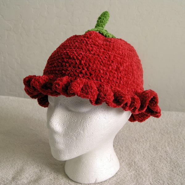 Strawberry Hat for Children - Novelty Hats - Medium
