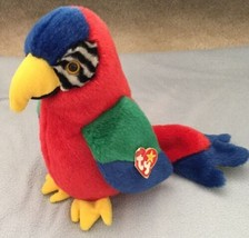 Ty Beanie Buddy Jabber Plush Multi-color Parrot Bird with Tags 11 Inches 1999 - $11.87