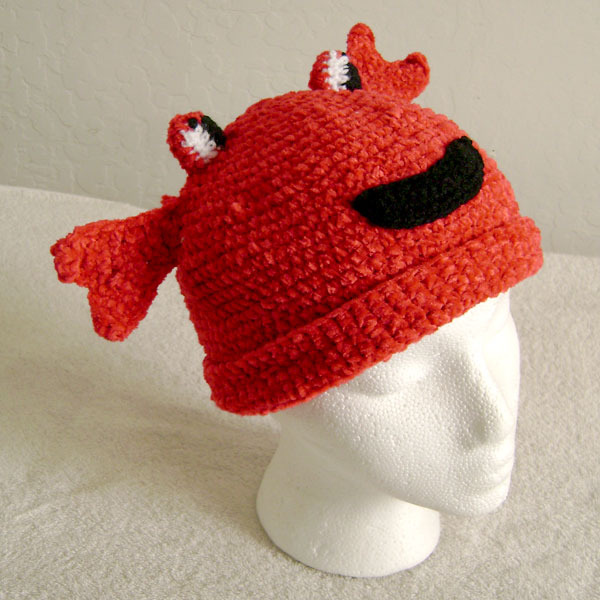 Crab Hat for Children - Animal Hats - Small