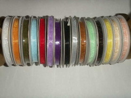 "1/4"" Plain Sheer Organza Nylon Ribbon 50 Yards - Moss / Sage Green - $4.99"