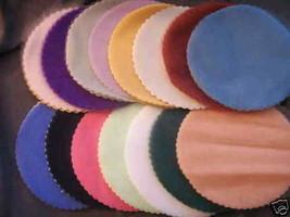 """100 Scalloped Tulle Circles 9"""" Wedding Favor Wrap - Peach - $7.92"""