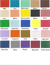 """1000 Paper Placemats 10"""" X 14"""" Dinner Size 26 Colors - Tangerine - $84.15"""