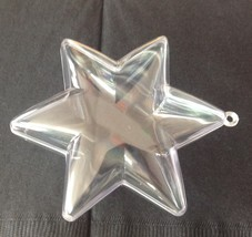 """12 Clear Plastic Ball STAR fillable Ornament favor 3.75"""" 6 points - $14.36"""