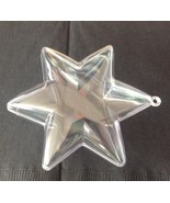 "12 Clear Plastic Ball STAR fillable Ornament favor 3.75"" 6 points - $14.36"