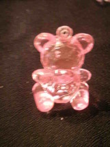 12 Crystal Like Transparent Baby Shower Bears - Pink - $2.92