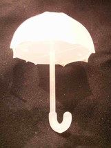 12 Fillable Plastic Baby Bridal Shower Umbrellas Favors - White - $10.79